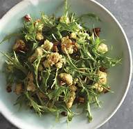 Mizuna Salad with Cumin-Roasted Cauliflower