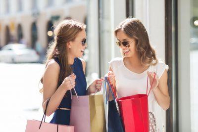 2 women shopping