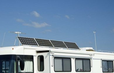 solar panels on RV